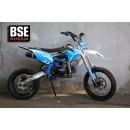 Питбайк BSE MX 125 17/14 Racing Blue 2 (Фильтрбокс, счетчик моточасов, фрезерованная крышка бака и лапка тормоза, алюминиевые обода)