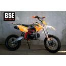 Питбайк BSE MX 125 17/14 Racing Orange 2 (Фильтрбокс, счетчик моточасов, фрезерованная крышка бака и лапка тормоза, алюминиевые обода)